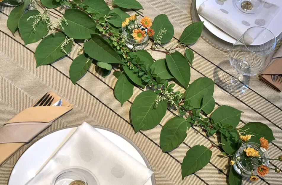 Gärdet och Asp, bordsdukning med skogen som inspiration