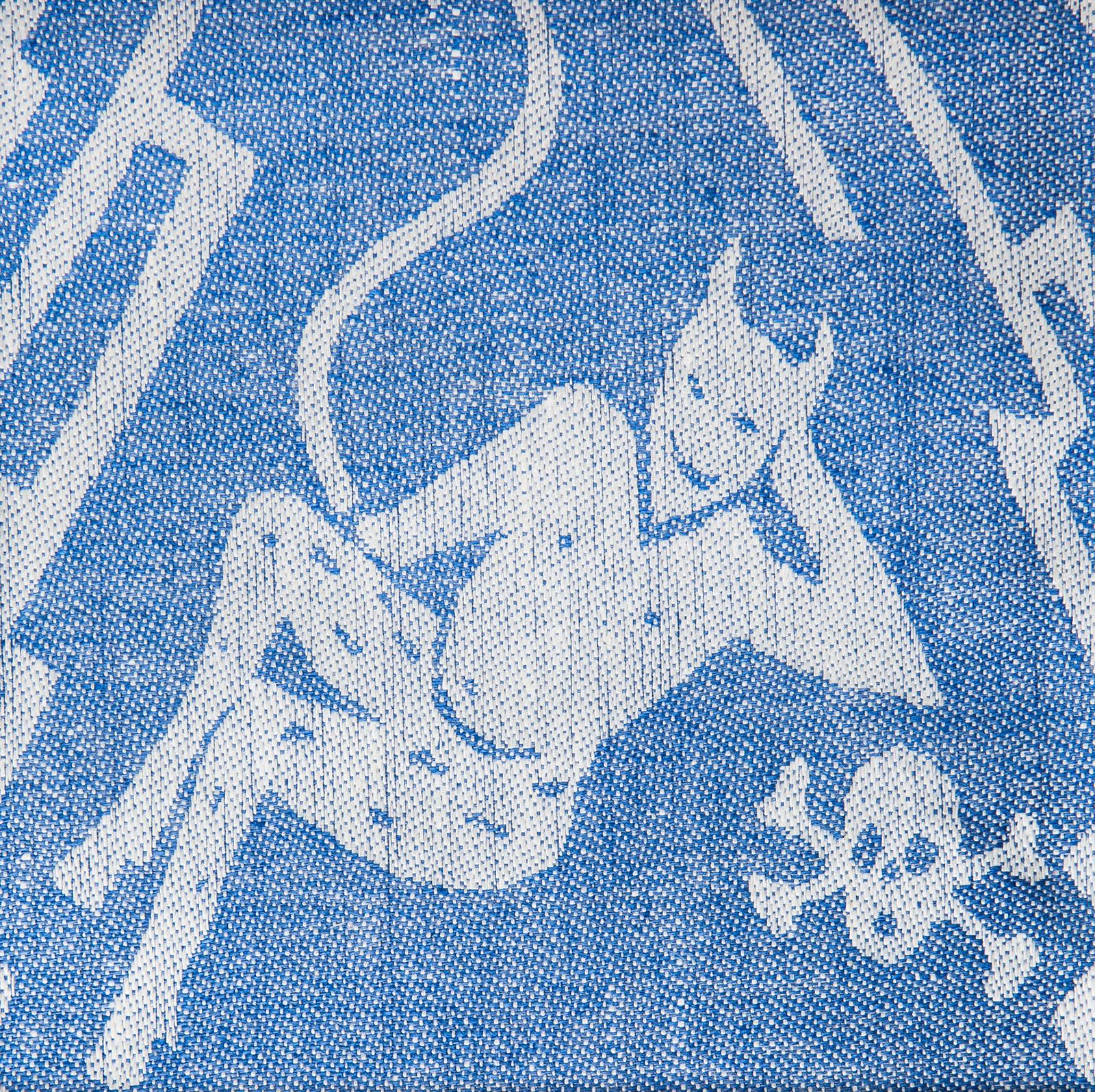 Helvete handduk hellinne Klässbols linneväveri Wanja Djanaieff blå