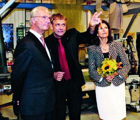 Kunglig Hovleverantör H.M Konung Carl XVI Gustaf och H.M Drottning Silvia med Dick Johansson