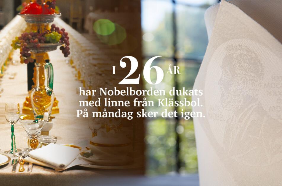 Nobel Klässbols Linneväveri linneduk och servett