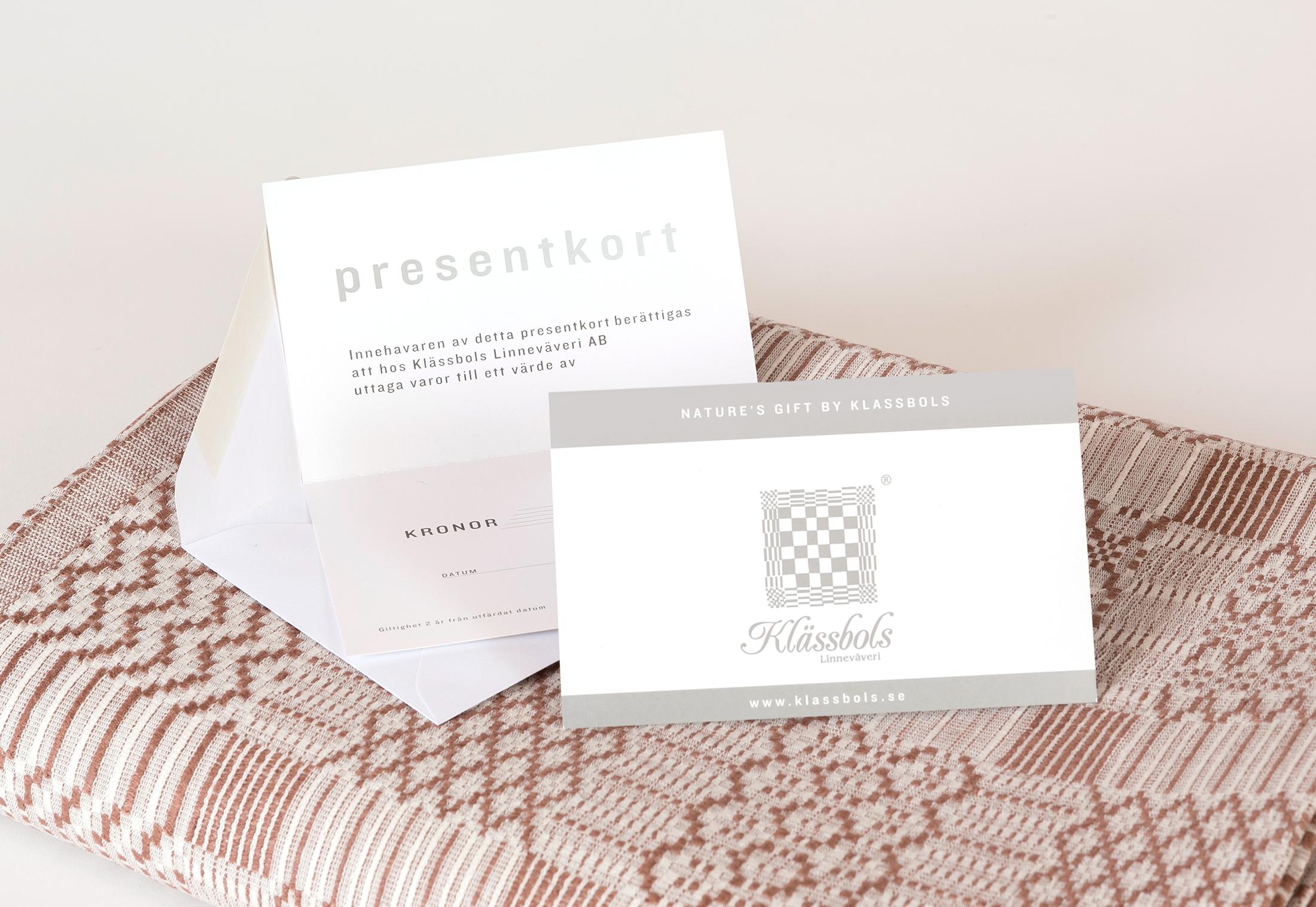 Presentkort Klässbols Linneväveri