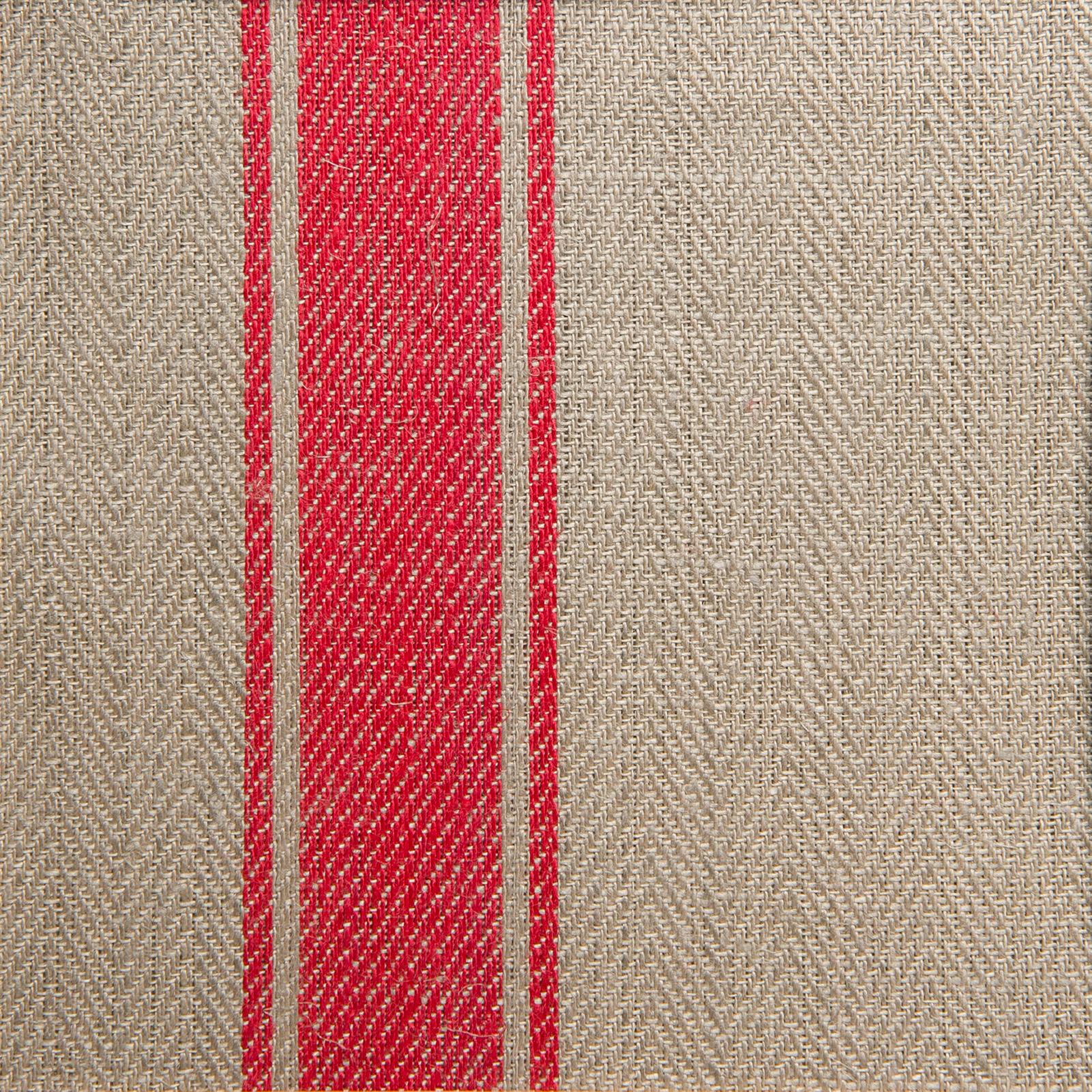 Allmoge handduk hellinne Klässbols linneväveri oblekt/röd