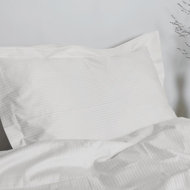 Gastaldi Ara Italienskt sänglinne, Klässbols Linneväveri kuddvar kuddvar vit