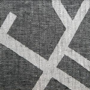 Arvika linne handduk löpare Klässbols Linneväveri Hanna Smedberg svart