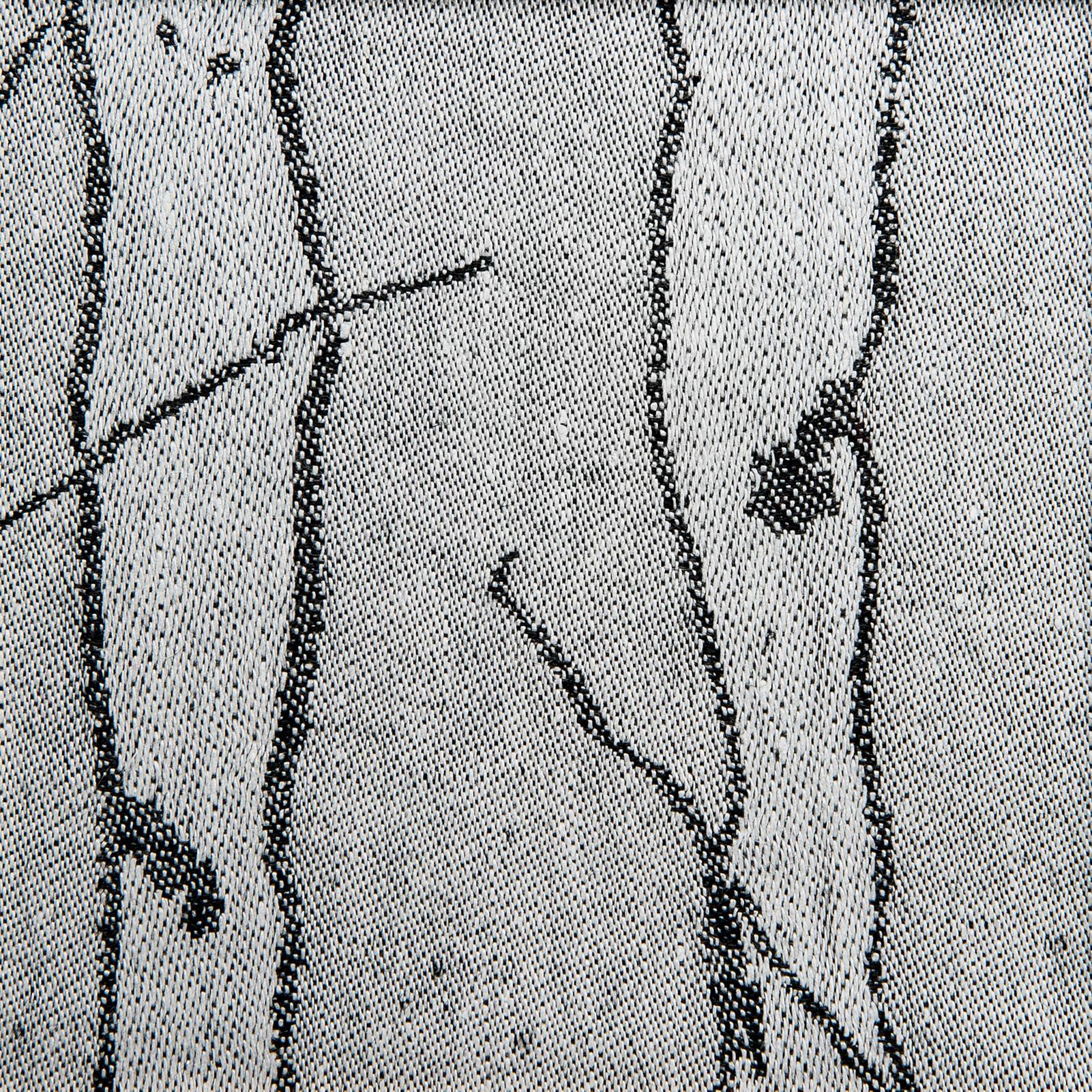 Björk handduk hellinne Klässbols Linneväveri Lena Hellström vit svart
