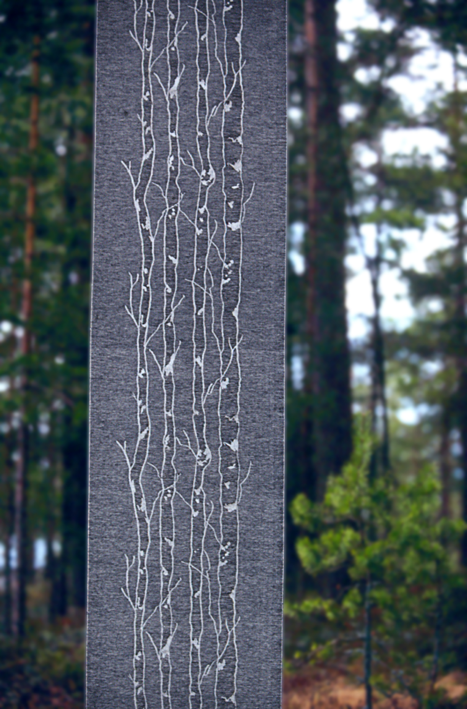 Björk textil metervara. Design Lena Hellström