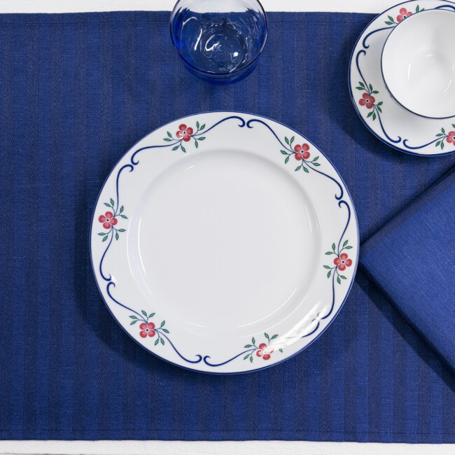 Blå servett bordstabletter Klässbols Hanne Vedel 4