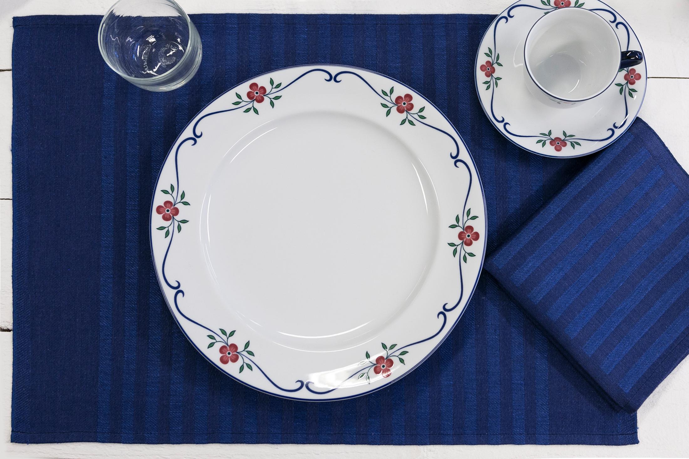 Blå servett bordstabletter Klässbols Hanne Vedel 5