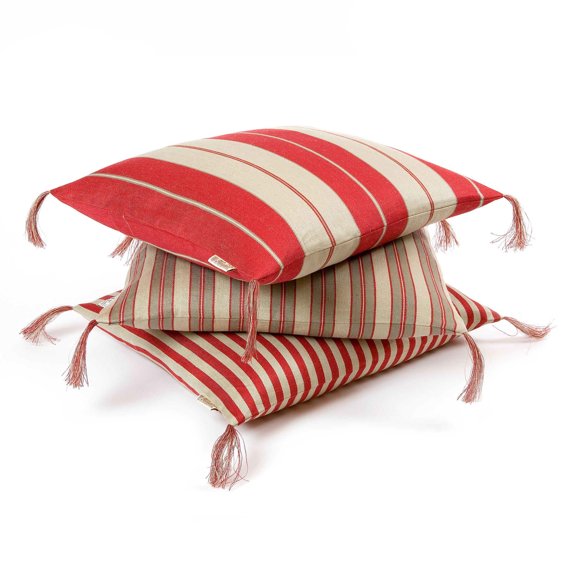 bolster pillowcase red
