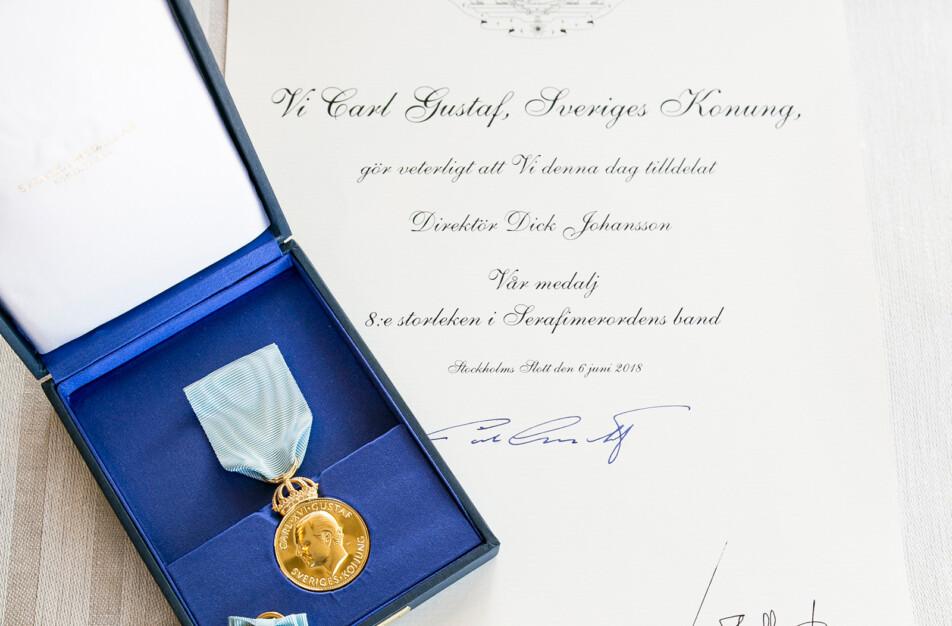 Dick Johansson Klässbols Linneväveri Kungliga medaljen