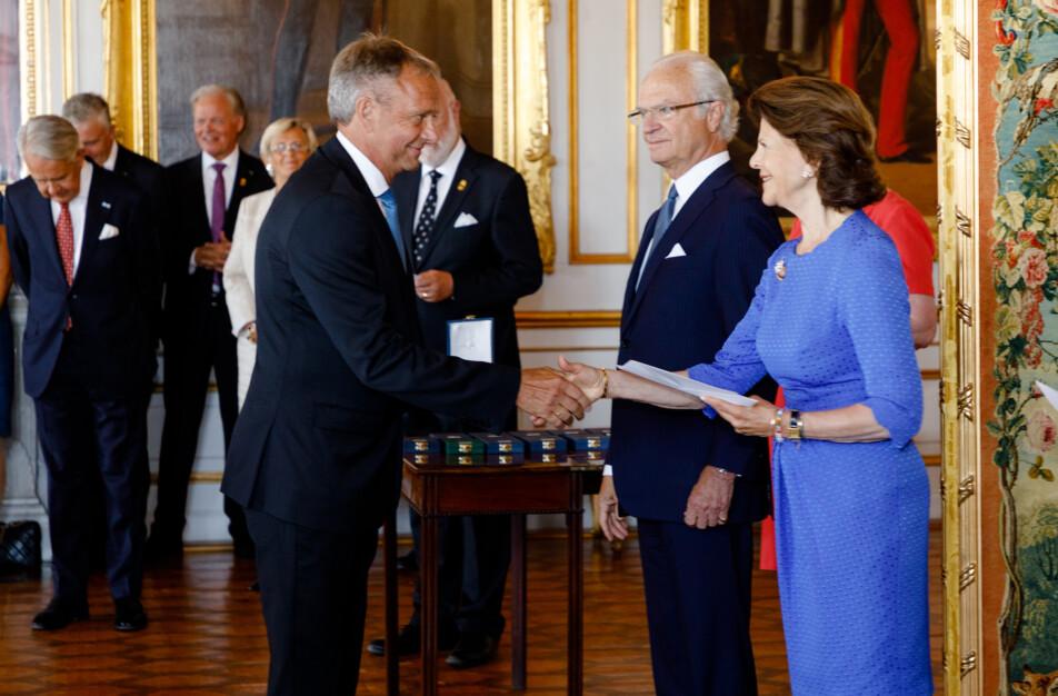 Dick Johansson, Drotting Silvia och Kung Carl XVI Gustav. Foto Yanan Li