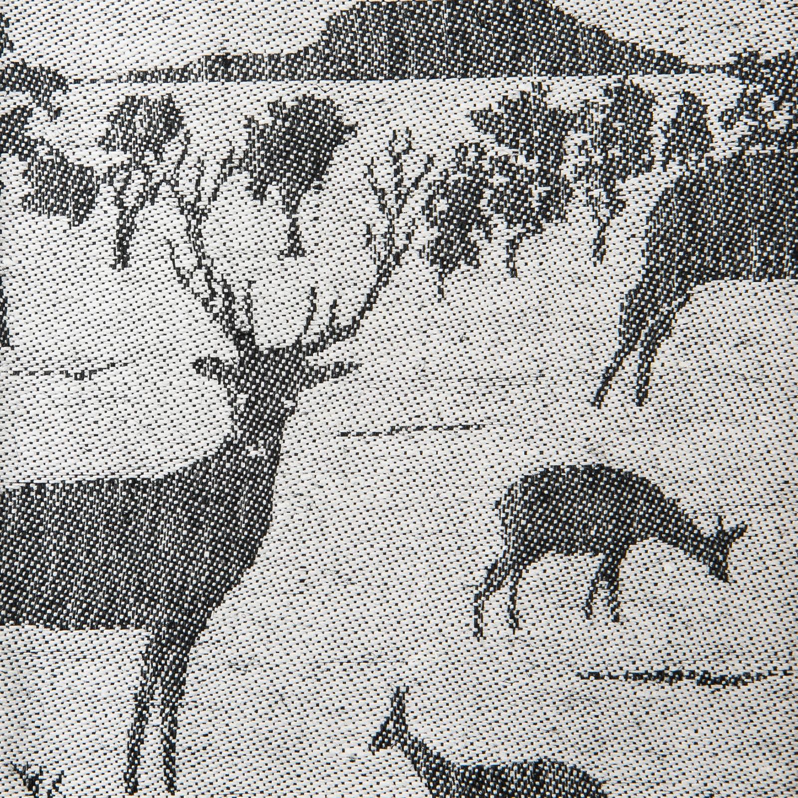 Djurgården linne handduk löpare duk Klässbols Linneväveri svart