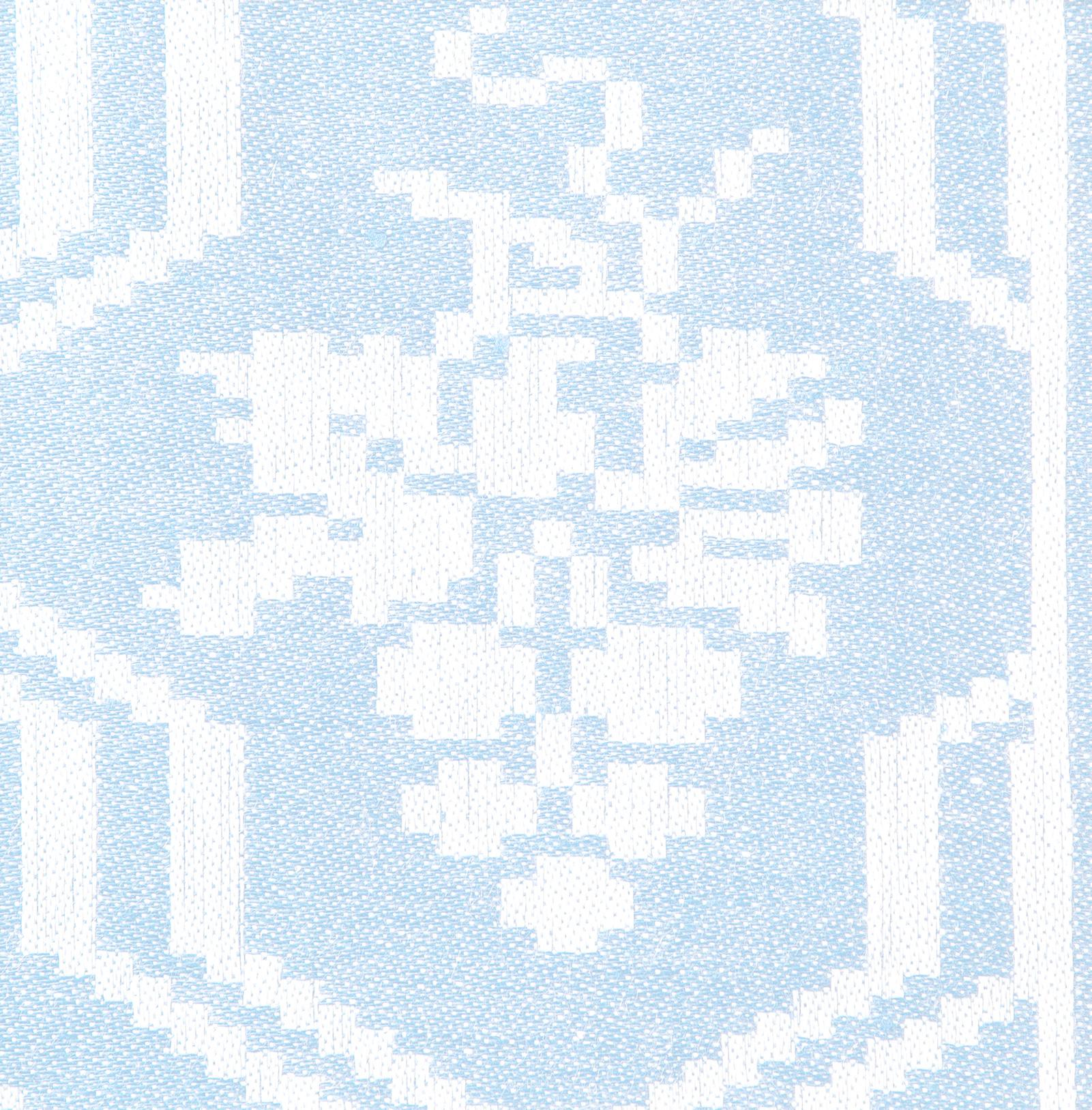 Druvklasen linne duk och servettmöster Klässbols Linneväveri formgiven av Hjalmar Johansson mörkblå