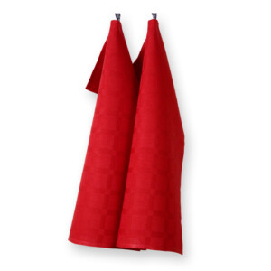 Dylta handduk röd Klässbols Linneväveri