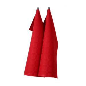 Dylta linne handduk Klässbols Linneväveri röd