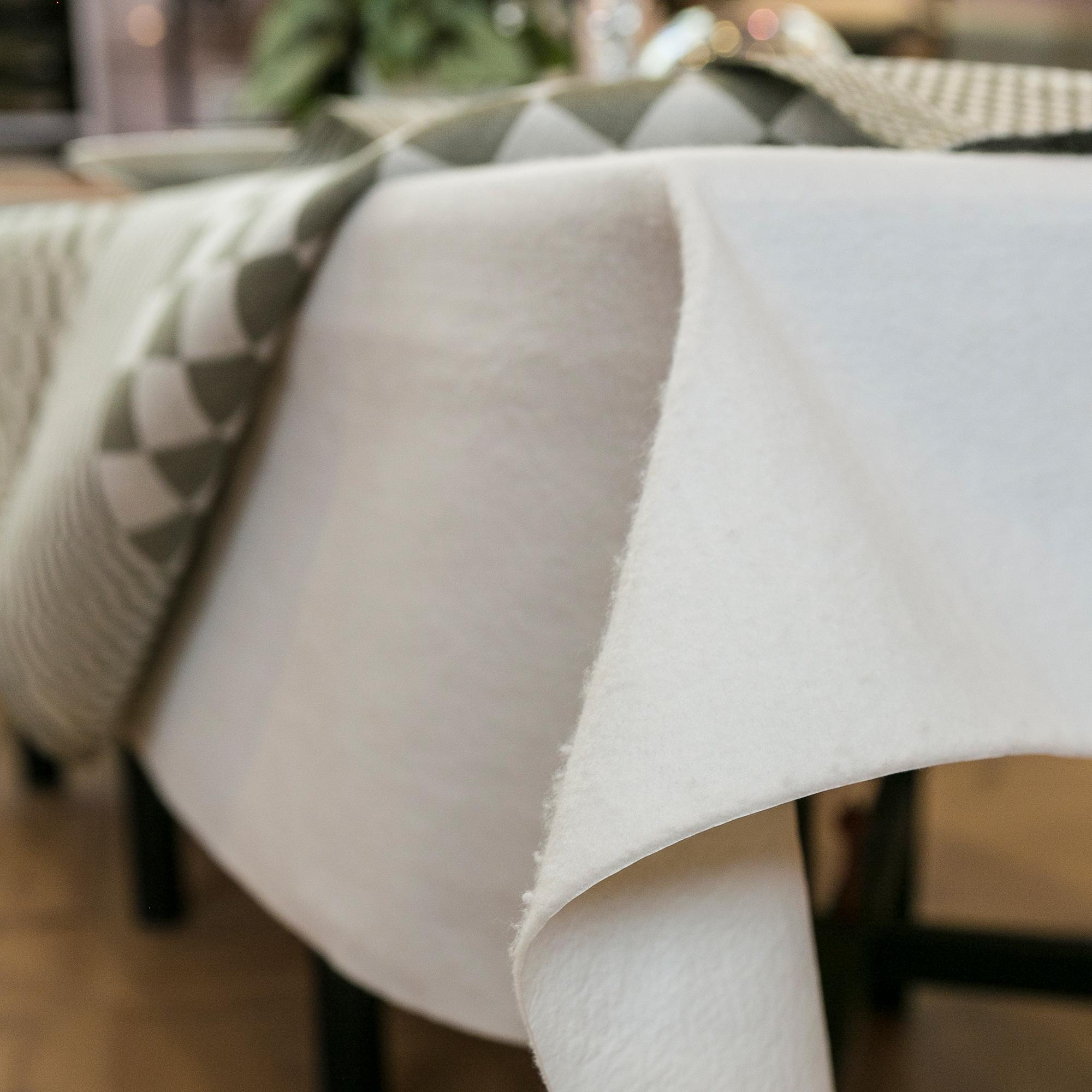 Filtduk att ha mellan bord och linneduk vit 2 Klässbols