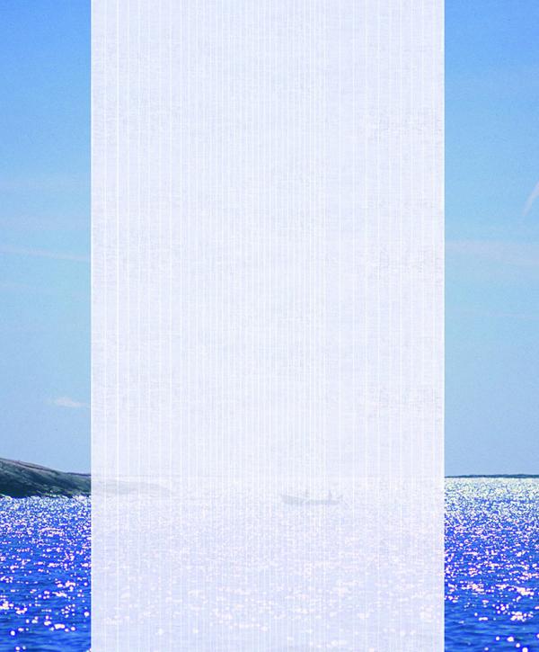 Fjorden gardin av Klässbols Studio Klässbols Linneväveri