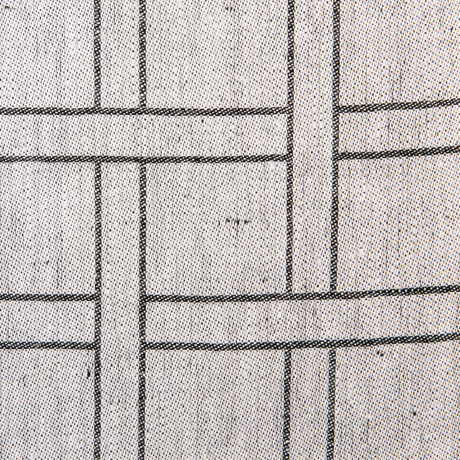 Flätan linne duk Klässbols Linneväveri Peter Condu beige svart