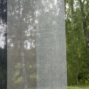 Gardin Trecolore hellinne Klässbols linneväveri Lena Bergström marinblå