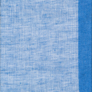 Gryning (skimmer) linnegardin av Eva Jemt Klässbols Linneväveri. Blå