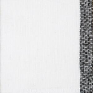 Gryning (skimmer) linnegardin av Eva Jemt Klässbols Linneväveri. Vit med svart kant