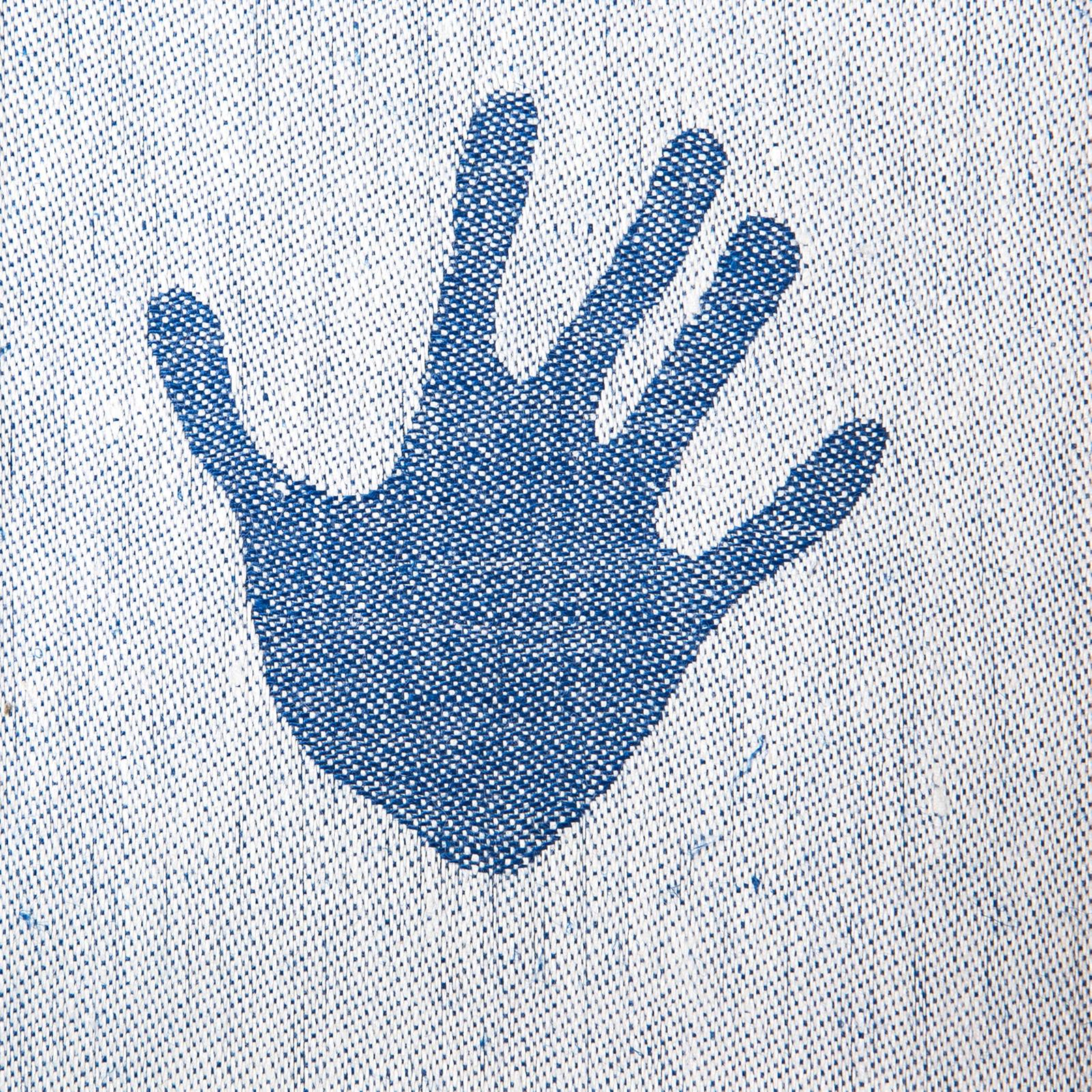 Handduken hellinne Klässbols Linneväveri Alf Levin cerise mörkblå