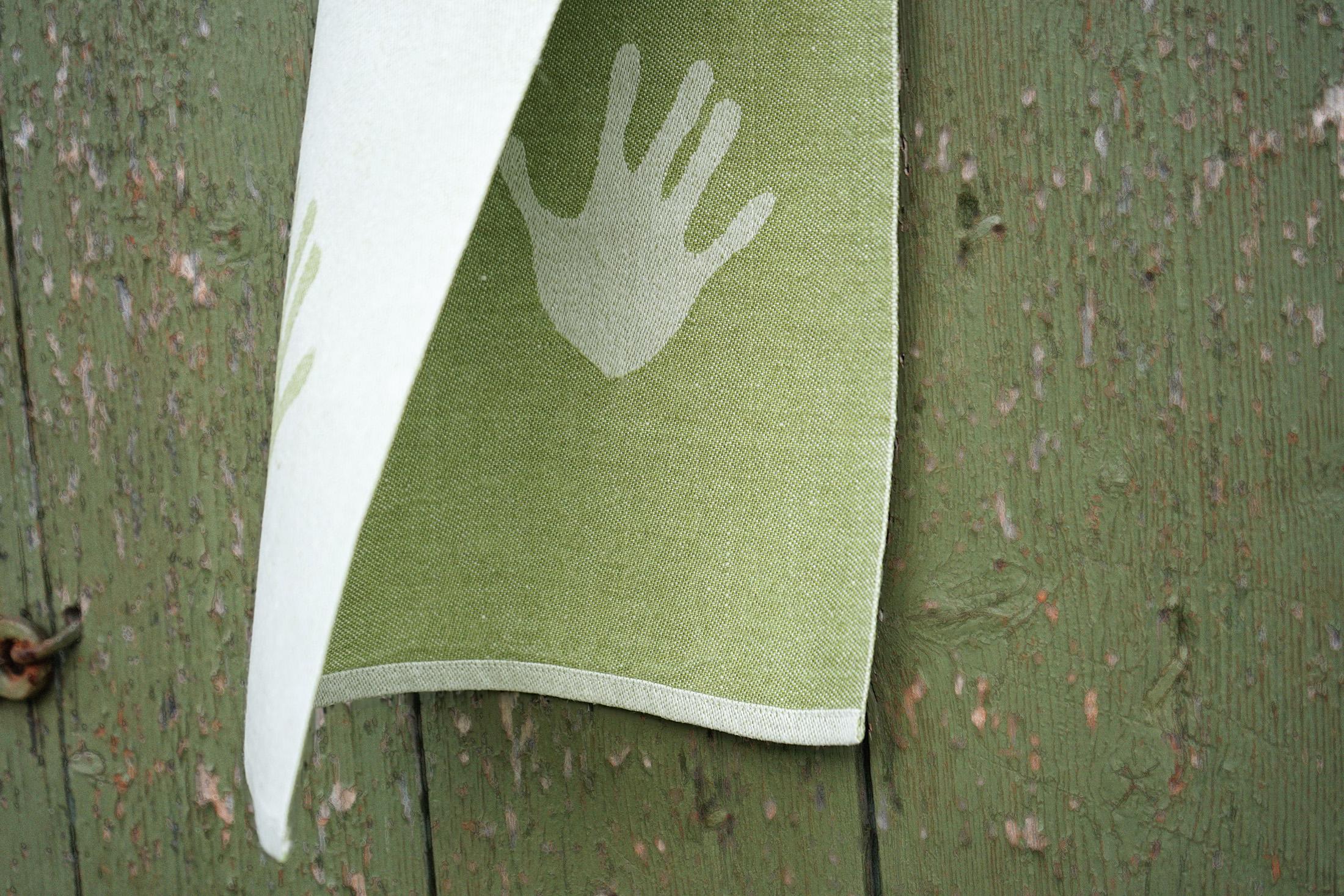 Handduken Klassbols linblomsgrön