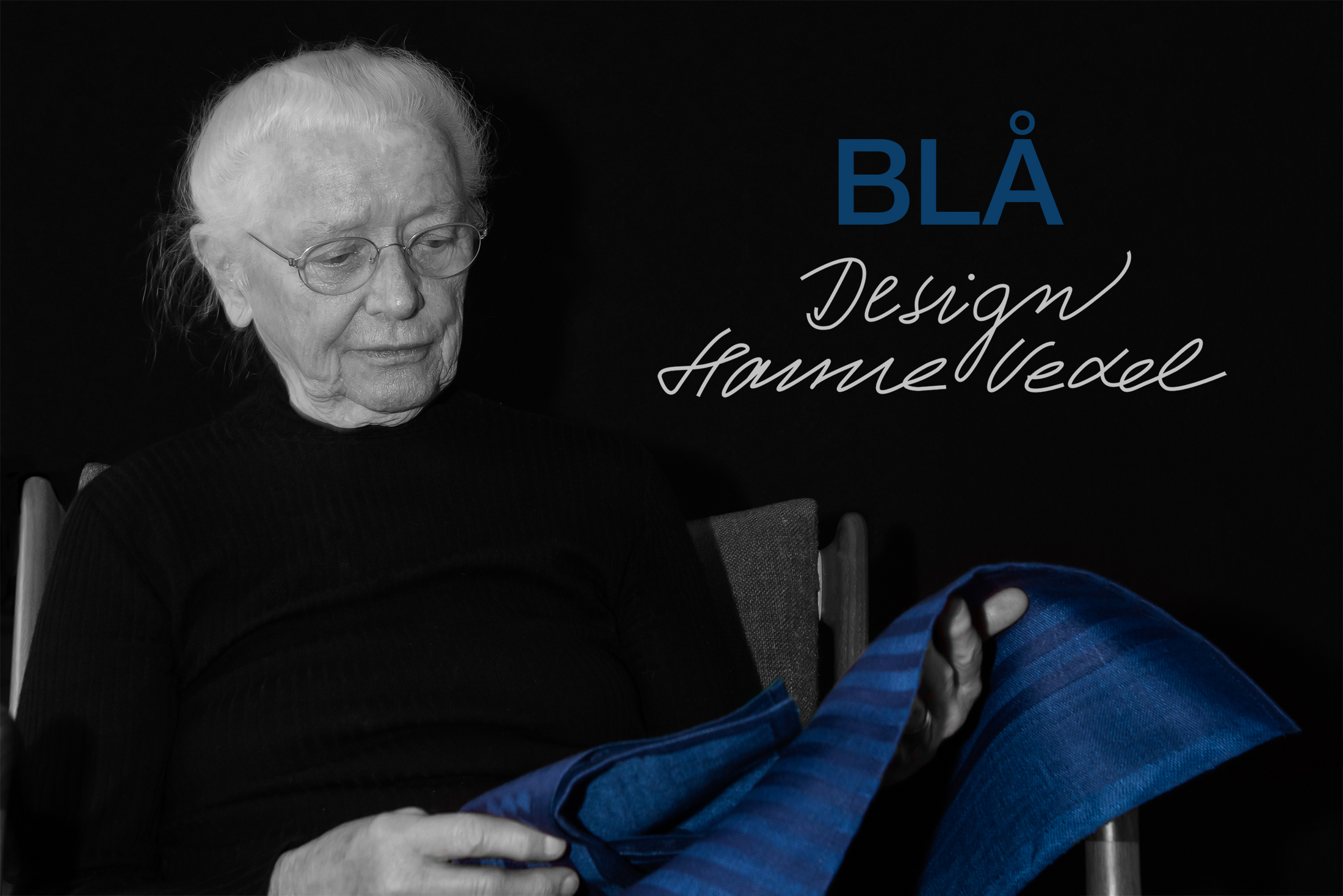 Designer Hanne Vedel och produkten Blå