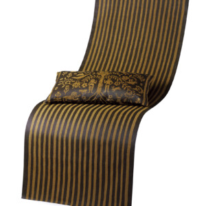 harmonika linnetyg textil metervara brons / svart design Wanja Djanaieff