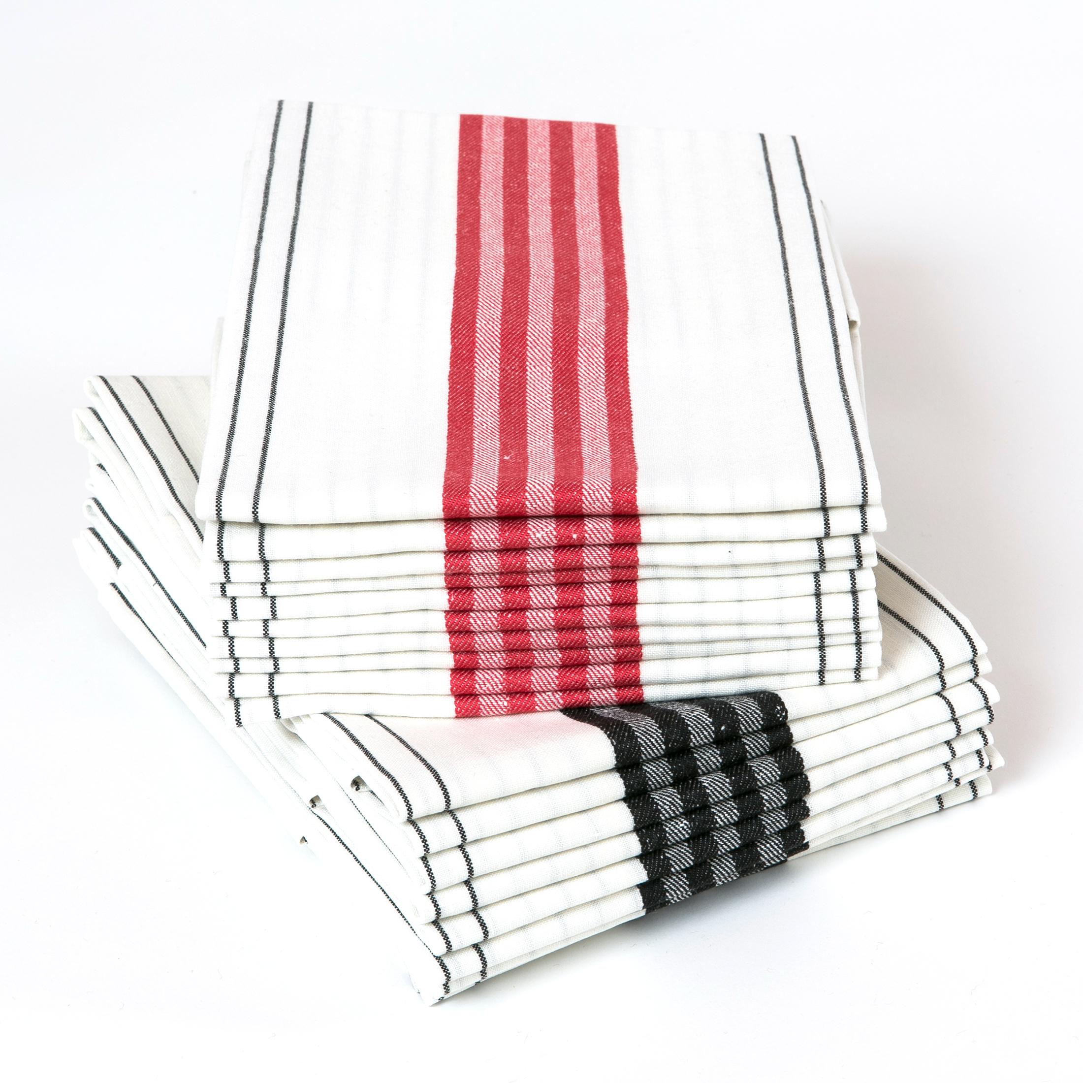 Kökstrivsel handduk hellinne Klässbols Linneväveri Astrid Sampe röd och svart