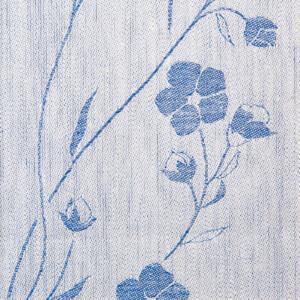 Linblommekrans linne duk Klässbols Linneväveri Ingela Berntsson blå
