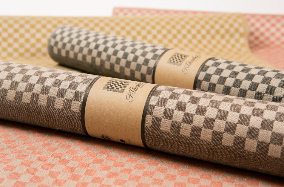 Line bordslöpare linne Klässbols design Hanne Vedel färg sandvarp