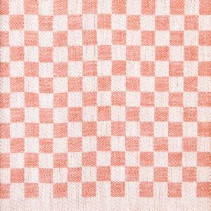 Mönster, handduken Line färg tegelröd