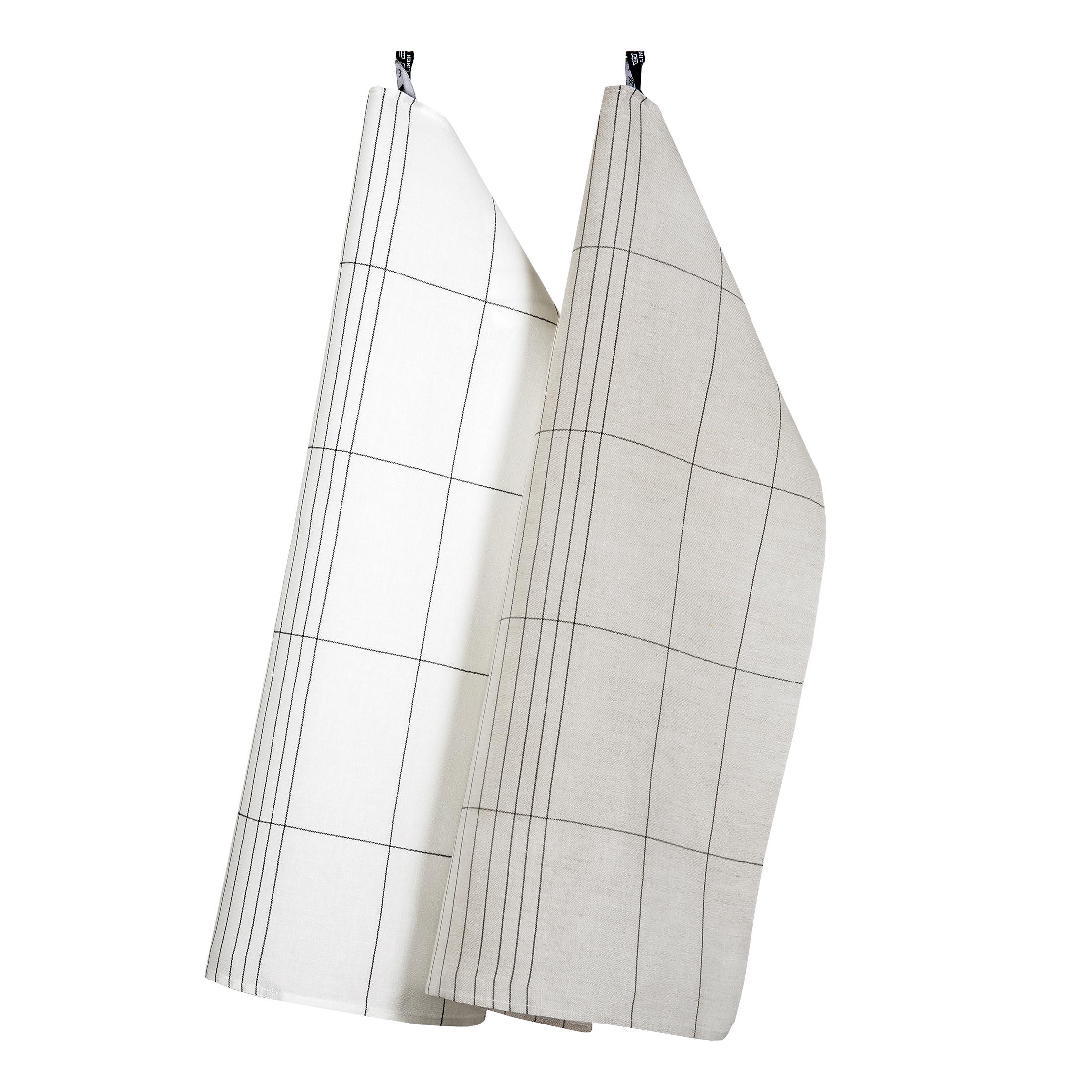 Manhattan handduk hellinne Klässbols Linneväveri Peter Condu vit och oblekt