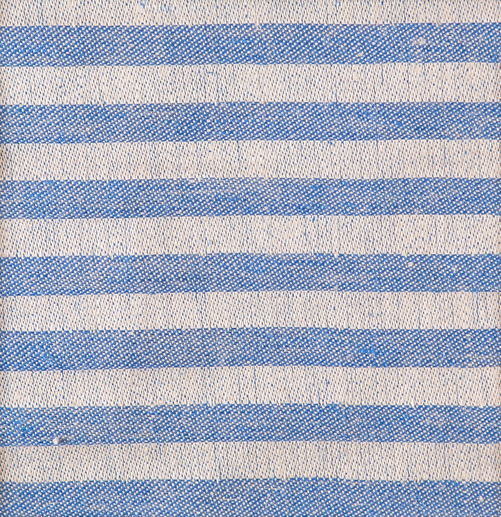 Marie bordslöpare färgprov design Hanne Vedel färg sandvarp blå