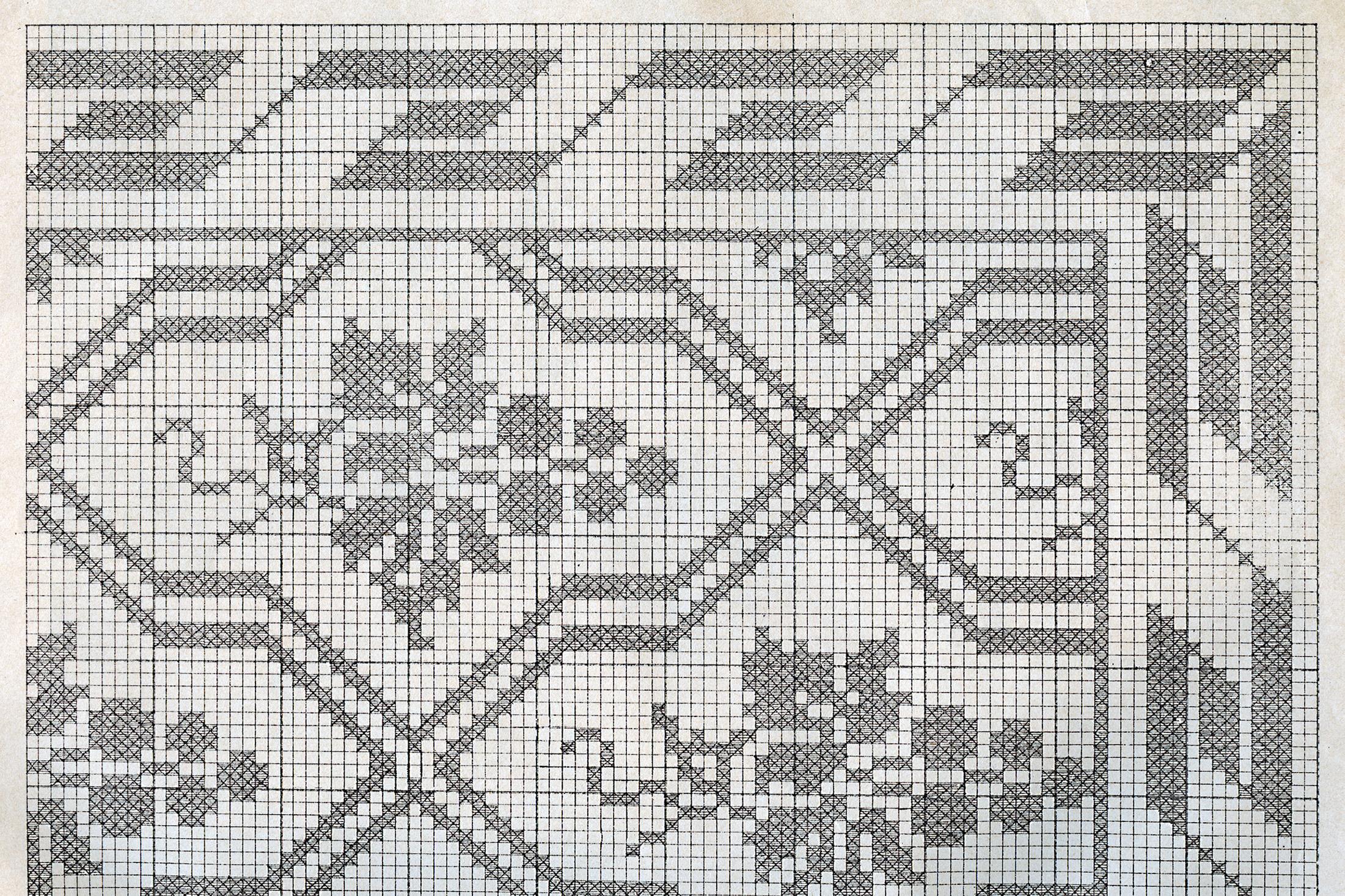 Gammalt mönster av Druvklasen Klässbols Linneväveri