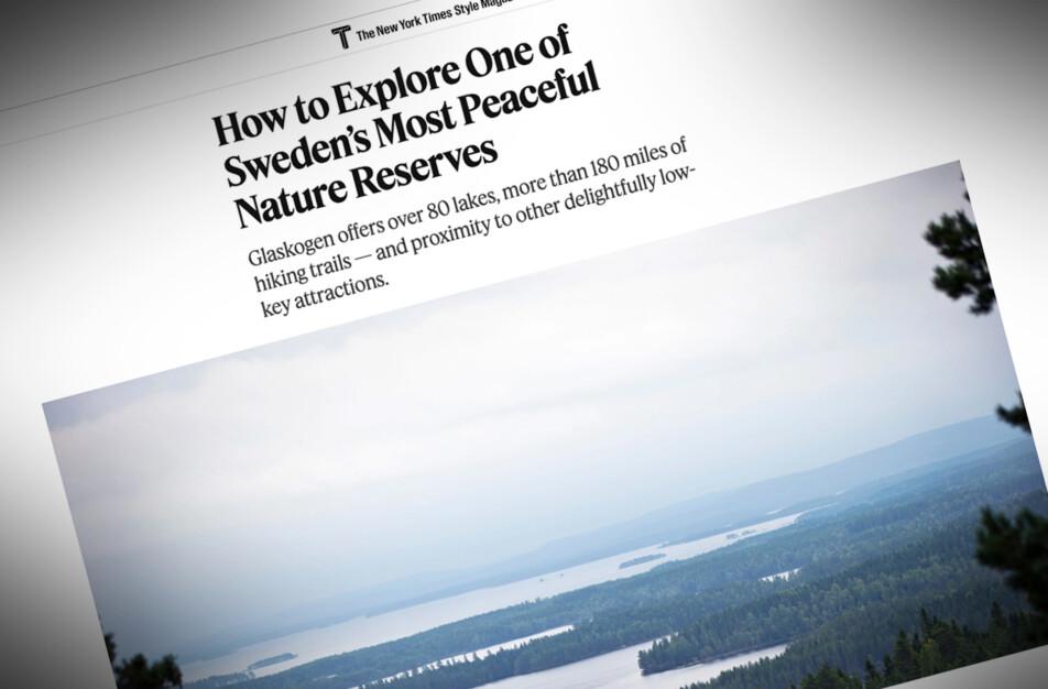 Artikel om Glaskogen och dess omgivning The New York Times Magasin