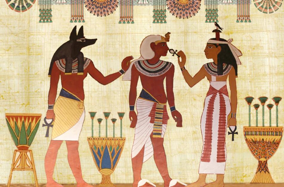 Linneplagg bars av egyptier som en svalt plagg