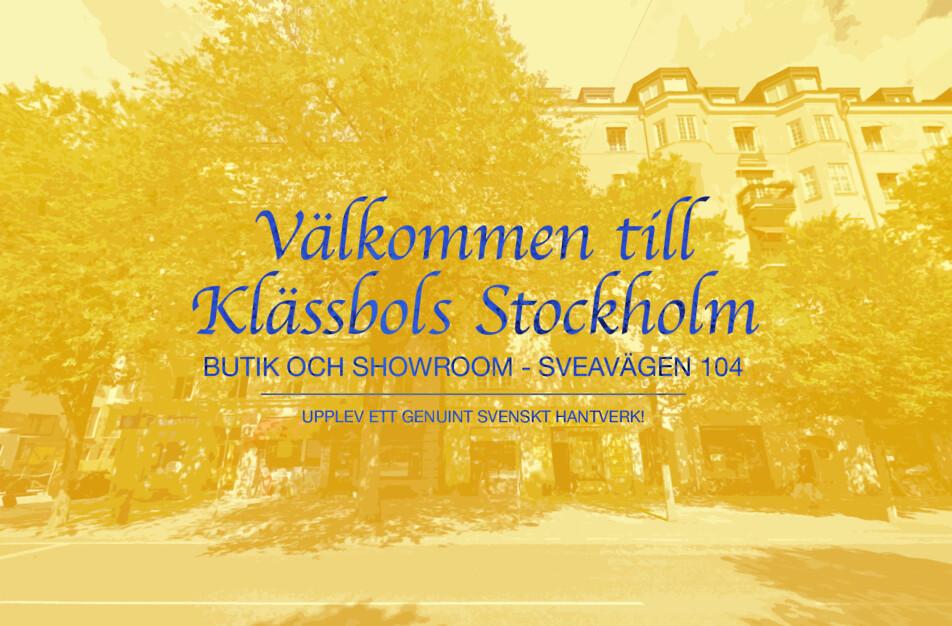 Öppettider i Klässbols Stockholm Sveavägen