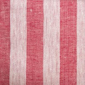 Randig linne handduk Klässbols studio linneväveri röd