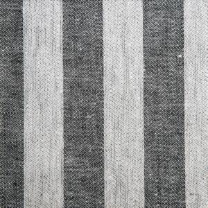 Randig linne handduk Klässbols studio linneväveri svart