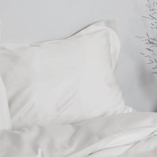 Gastaldi Raso Italienskt sänglinne, Klässbols Linneväveri kuddvar vit