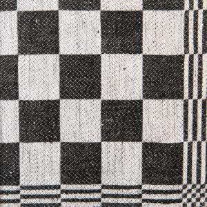 Schackrutan hellinne Klässbols Linneväveri svart|Color:svart