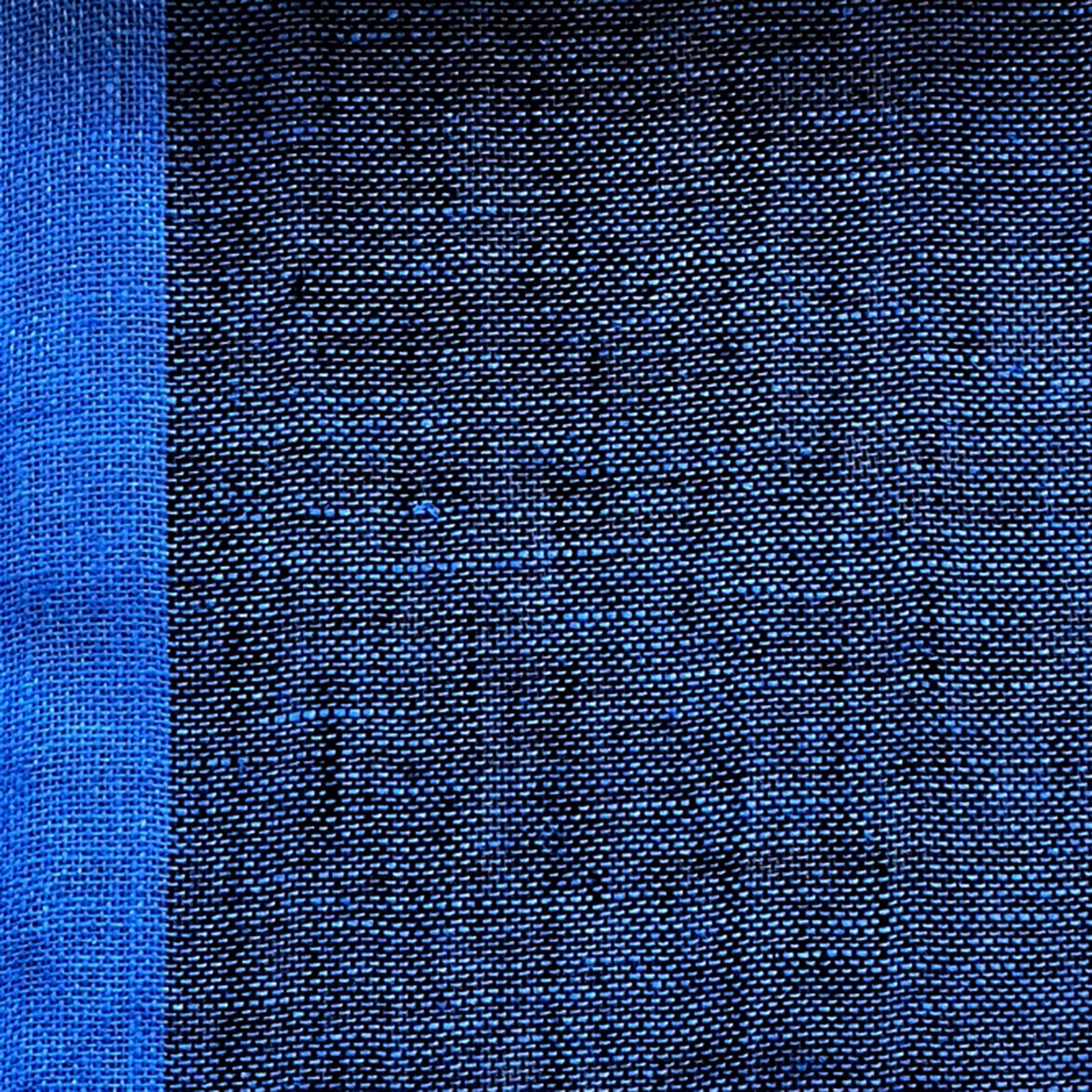 Skymning (skimmer) linnegardin av Eva Jemt Klässbols Linneväveri. Blå