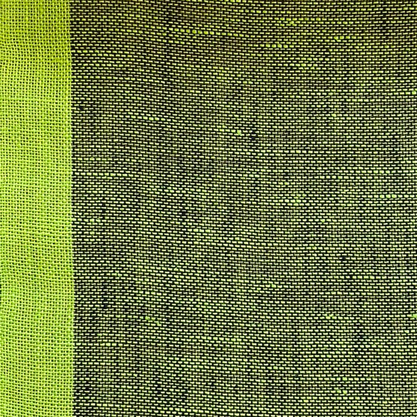 Skymning (skimmer) linnegardin av Eva Jemt Klässbols Linneväveri. Grön
