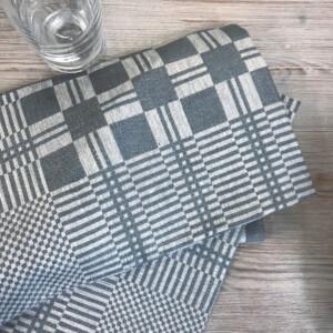 Stavnäsrutan Klässbols Linneväveri linne servett jeansblå